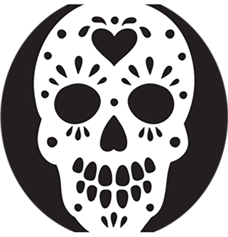 Sugar Skull Template 8 Pumpkin Stencils For Your Halloween Pumpkin
